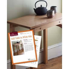 Hall Table in White Oak (Digital Project Plan)