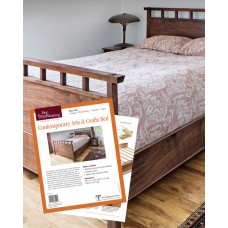 Contemporary Arts and Crafts Bed (Digital Plan)