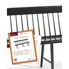 Classic Shaker Bench (Digital Plan)