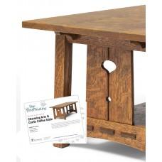 Charming Arts & Crafts Coffee Table (Digital Plan)