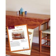 Gate-Leg Table Plan (Digital Plan)
