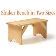 Shaker Bench in Two Sizes SketchUp Plan (Digital Plan)