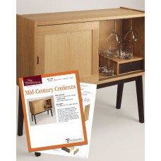 Fine Woodworking's Mid-Century Credenza Plan (Digital Project Plan)